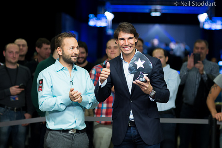 Rafael Nadal playing live poker